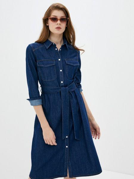 Джинсовое платье синее оливковый S.oliver