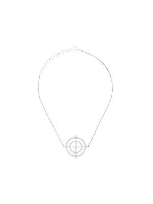 Серое ожерелье с подвесками круглое Anissa Kermiche
