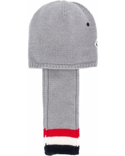 Zimowy kapelusz z logo z paskami Moncler Kids