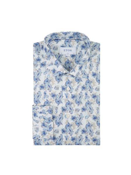 Koszula z długim rękawem długa wzór paisley Eton Slim Fit