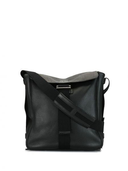Сумка на плечо черная на молнии Hermès