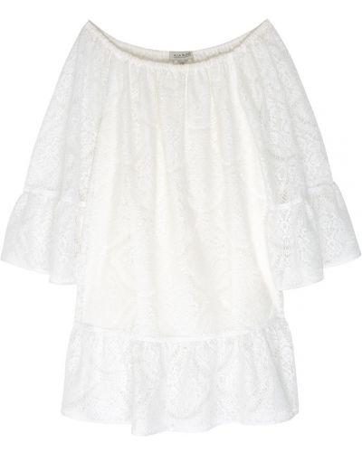 Хлопковое ажурное белое платье A La Russe