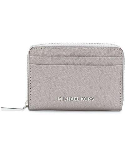 Серый кошелек кожаный Michael Michael Kors