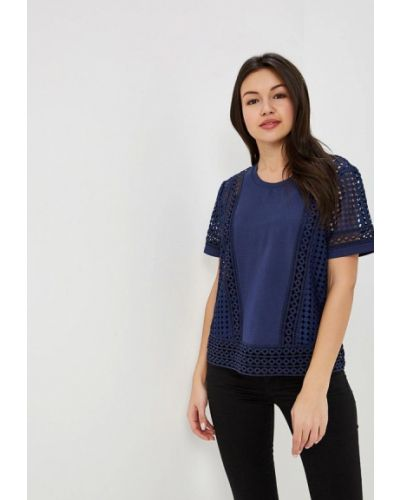 Блузка с коротким рукавом синяя Silvian Heach
