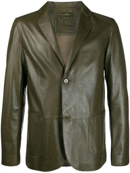 Зеленый пиджак с карманами с заплатками с лацканами Desa 1972