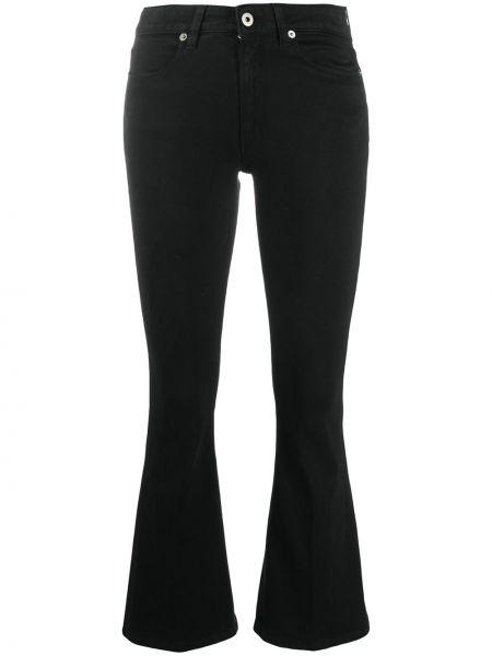 Расклешенные укороченные джинсы с высокой посадкой с нашивками Dondup