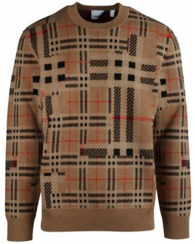 Sweter - brązowy Burberry