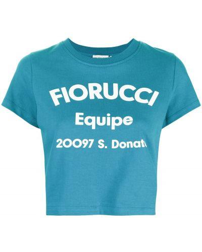 Niebieska koszulka krótki rękaw Fiorucci