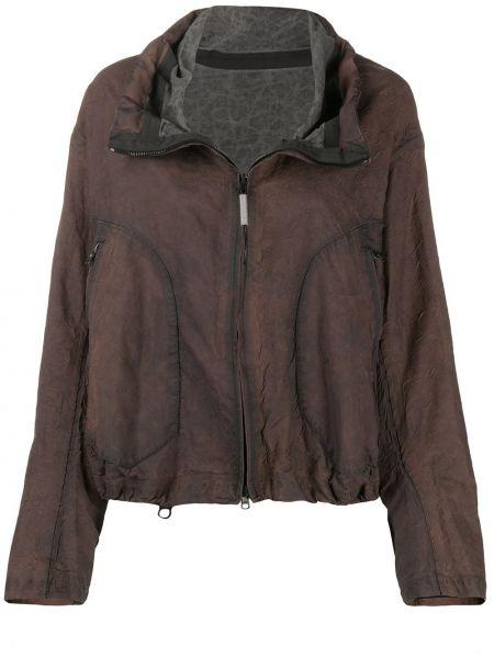 Льняная коричневая длинная куртка с карманами Isaac Sellam Experience