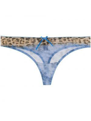 Трусы прозрачные леопардовые Just Cavalli