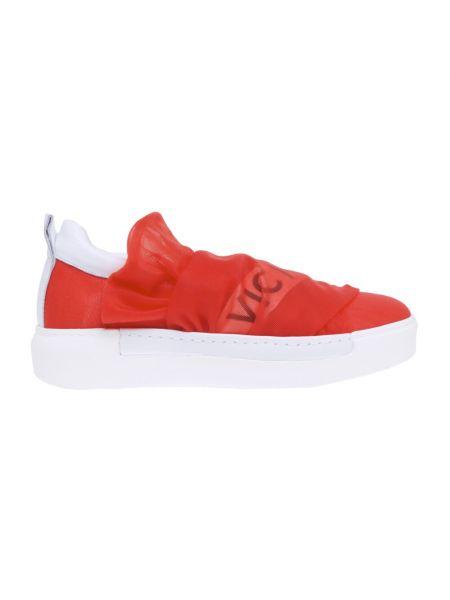 Czerwone sneakersy skorzane Vic Matie