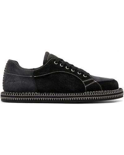 Czarne sneakersy skorzane sznurowane Jacquemus