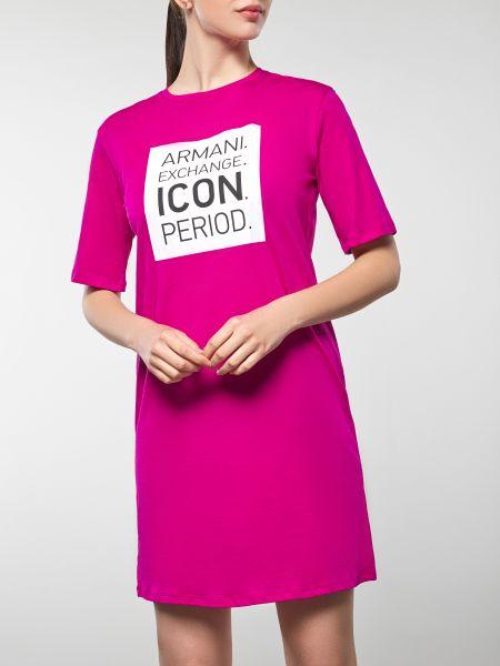 Брендовое платье-рубашка для офиса Armani Exchange