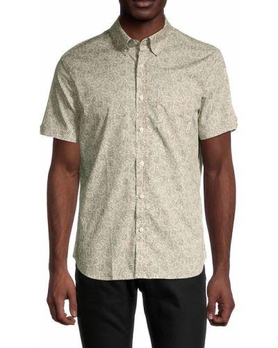 Зеленая рубашка с коротким рукавом с воротником классическая Ben Sherman
