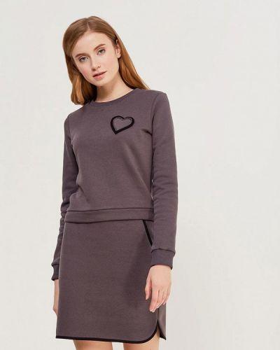 Серый юбочный костюм Fashion.love.story