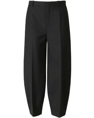 Czarne spodnie wełniane Rodebjer