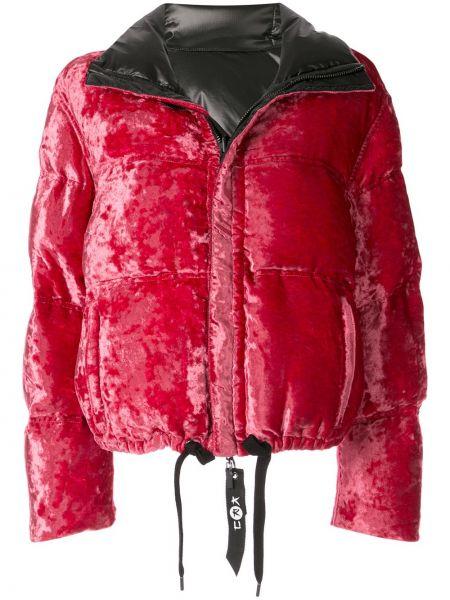 Красная куртка двусторонняя на молнии с воротником Kru