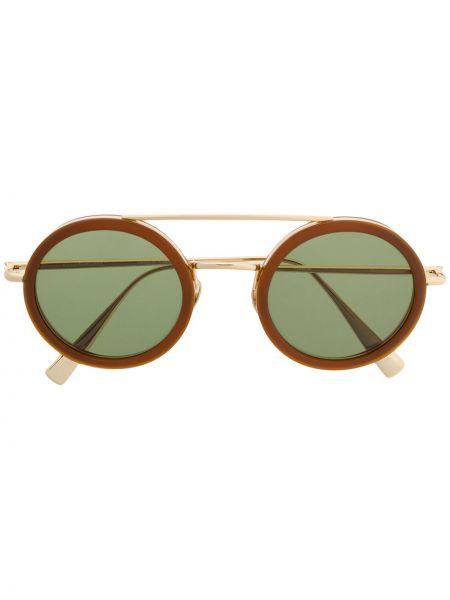 Муслиновые желтые солнцезащитные очки круглые Kaleos