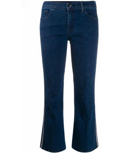 Расклешенные джинсы с лампасами на пуговицах J Brand