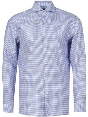 Рубашка хлопковая голубой Hugo Boss