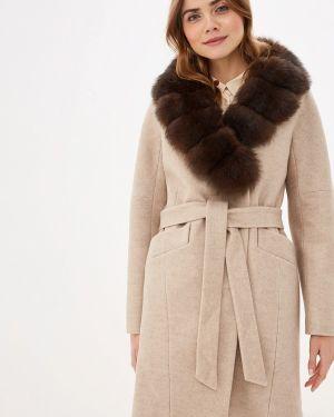 Зимнее пальто бежевое пальто Giulia Rosetti
