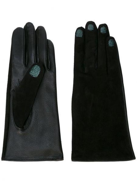 Skórzany rękawiczki czarny zielony Yohji Yamamoto