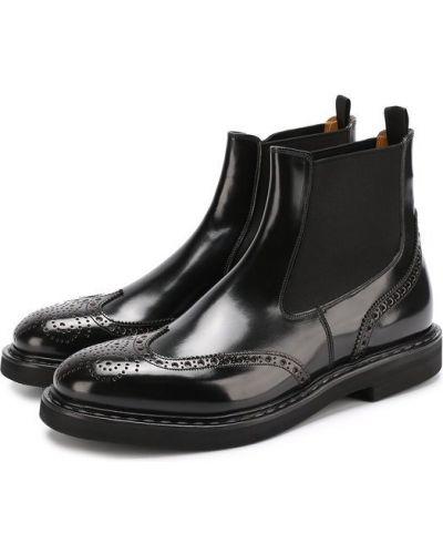 Черные сапоги кожаные Premiata