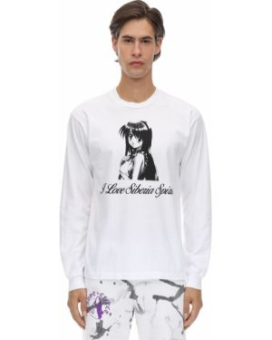 Biały t-shirt z długimi rękawami Siberia Hills