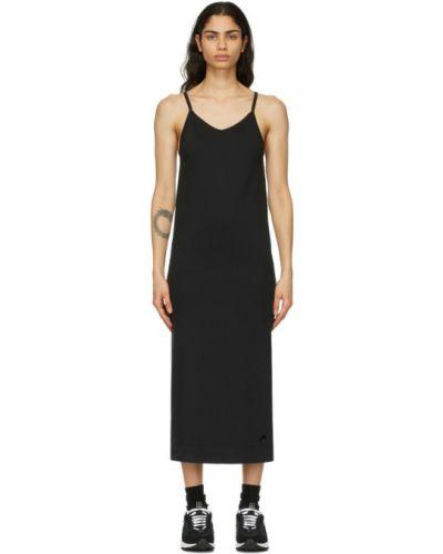 Bawełna czarny sukienka z haftem Nike