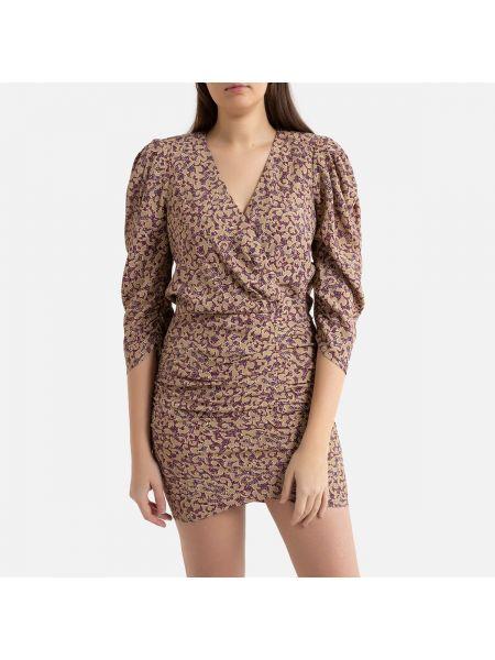 Облегающее платье с запахом с V-образным вырезом La Redoute
