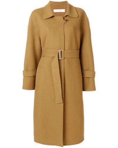 Длинное пальто классическое с поясом до колен Victoria Beckham