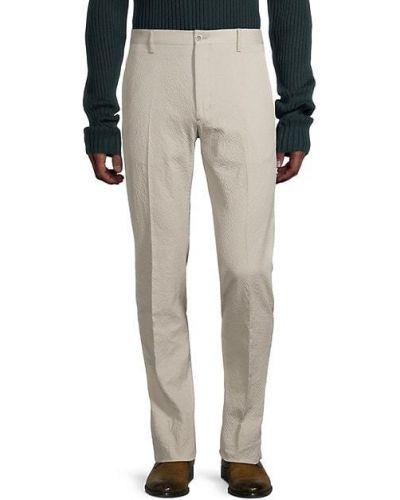 Хлопковые бежевые брюки с карманами Zanella