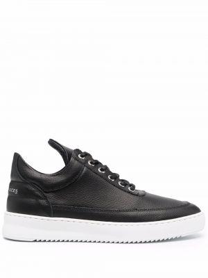 Buty sportowe skorzane - czarne Filling Pieces