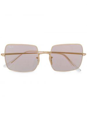Розовые солнцезащитные очки квадратные металлические Ray-ban