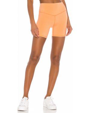 Pomarańczowe krótkie szorty z nylonu Lovewave