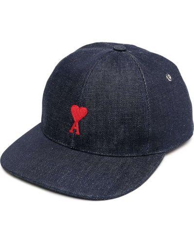Z paskiem bawełna bawełna czapka z daszkiem z haftem Ami