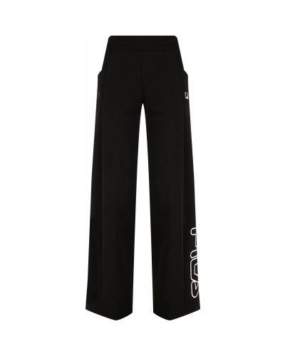Спортивные брюки из полиэстера - черные Fila