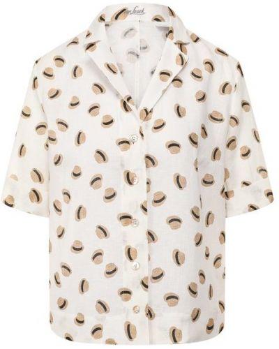 Льняная рубашка - белая Van Laack