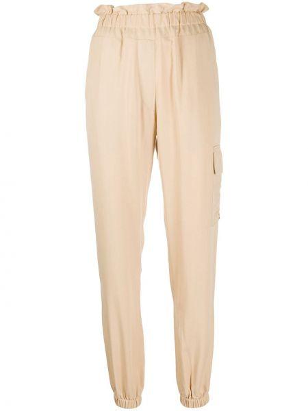 Beżowe spodnie z wysokim stanem Forte Dei Marmi Couture