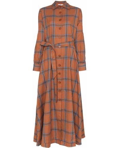 Классическое платье макси с воротником с манжетами с карманами Evi Grintela