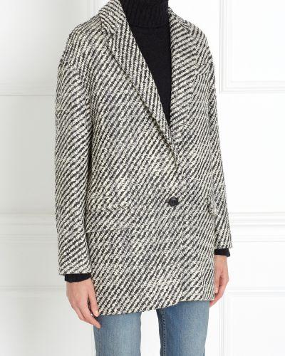 Пальто серое шерстяное Isabel Marant