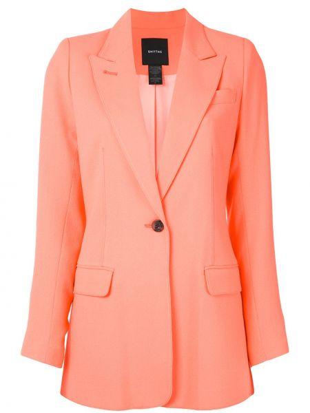 Оранжевый пиджак с карманами квадратный с лацканами Smythe