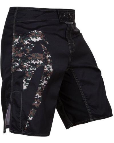 Спортивные шорты черные эластичные Venum
