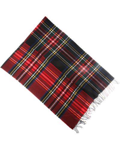 Czerwony szalik bawełniany z frędzlami Comme Des Garcons