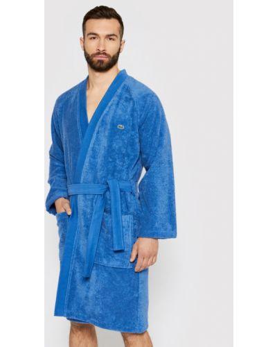 Niebieski szlafrok Lacoste