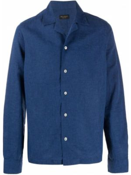 Koszula z długim rękawem prosto niebieski Dell'oglio