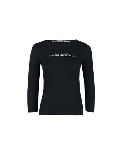 Черная футболка хлопковая Patrizia Pepe