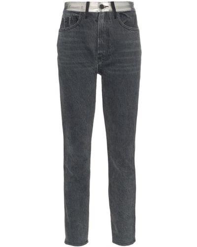 Классические серые прямые джинсы с карманами на пуговицах Jordache