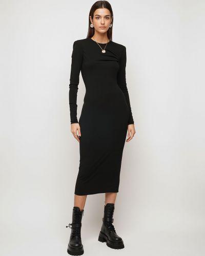Трикотажное платье миди - черное Versace