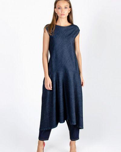 Джинсовое платье осеннее синее Kriza